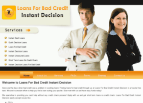 loansforbadcreditinstantdecision.co.uk
