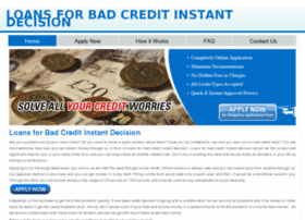 loansforbadcreditinstantdecision4u.co.uk