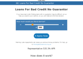 loansforbadcreditnoguarantor.co.uk