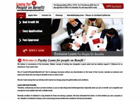 loansforpeopleonbenefit.com