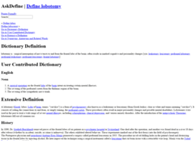 lobotomy.askdefine.com