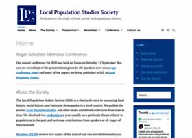 localpopulationstudies.org.uk