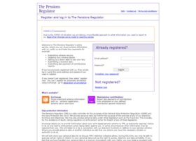 login.thepensionsregulator.gov.uk