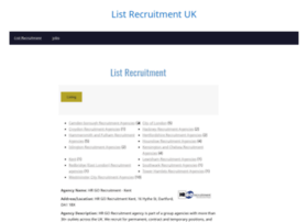 londonlistrecruitment.co.uk