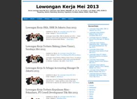 lowonganpekerjaanmei2013.blogspot.com