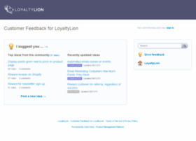 loyaltylion.uservoice.com