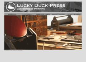 luckyduckletterpress.com