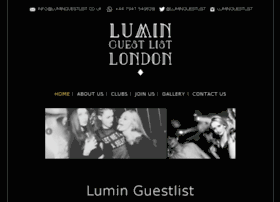 luminguestlist.co.uk