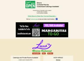 lunasmexicanrestaurants.com