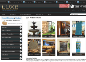 luxewaterfountains.com