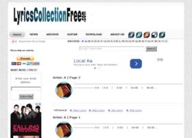 lyricscollectionfree.com
