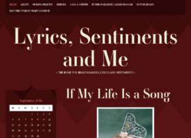 lyricssentimentsandme.com