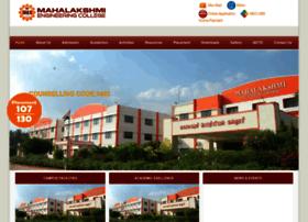 mahalakshmiengineeringcollege.com