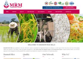 mahavirricemills.com