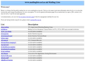 mailinglists.ucl.ac.uk
