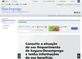 Maisemprego.mte.gov.br