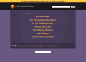 majormusiccontacts.com