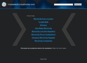 makeelectricityathome.com