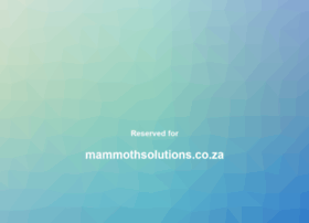 mammothsolutions.co.za