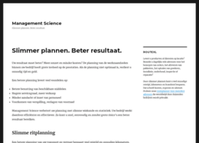 managementscience.nl