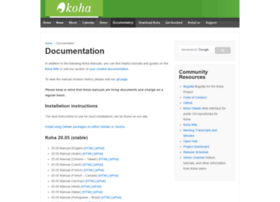 manual.koha-community.org
