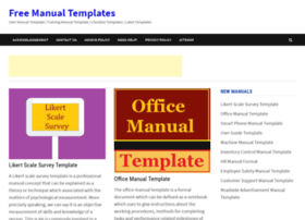 Manualtemplate.org