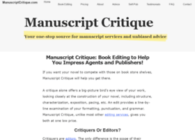 manuscriptcritique.com