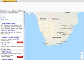 mapknows.co.za