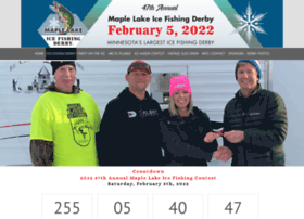 maplelakefishingderby.com