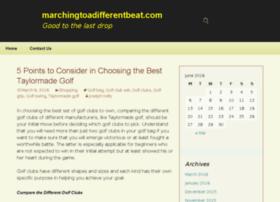 marchingtoadifferentbeat.com