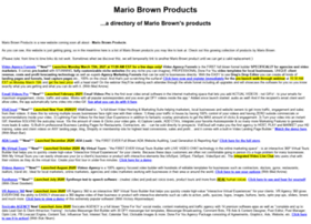 mariobrownproducts.com