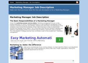 marketing-manager-job-description.com