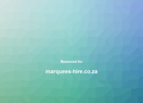 marquees-hire.co.za