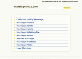 marriageby21.com