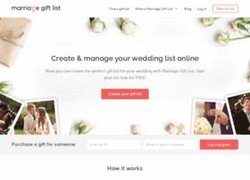 Marriagegiftlist.com