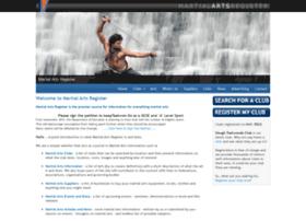 martialartsregister.co.uk