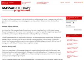 massagetherapyprograms.net