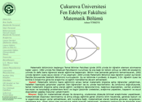 matematik.cu.edu.tr