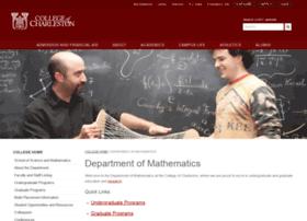 math.cofc.edu