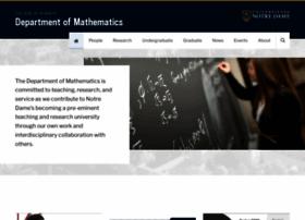math.nd.edu
