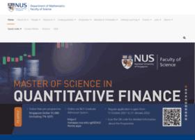 math.nus.edu.sg