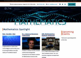 math.unc.edu