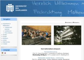 math.uni-sb.de