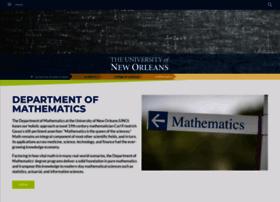 math.uno.edu