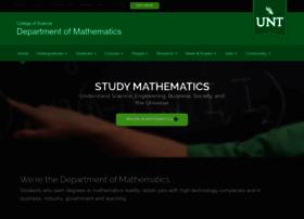 math.unt.edu