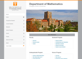 math.utk.edu