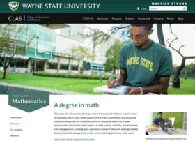 math.wayne.edu