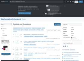 matheducators.stackexchange.com