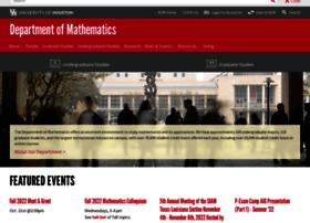 mathematics.uh.edu