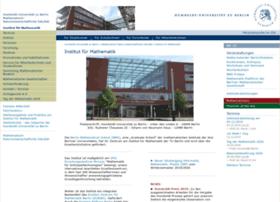 mathematik.hu-berlin.de